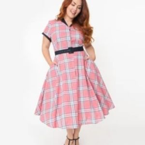 Unique Vintage 1950s Style Swing Dress